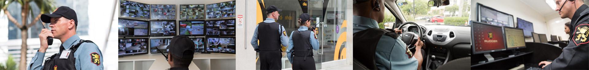 Agentes de segurança em diferentes atuações