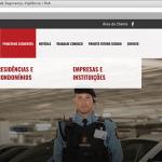 Visão geral do site da empresa Rudder Segurança
